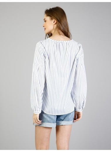 Colin's Çizgili Gömlek Beyaz